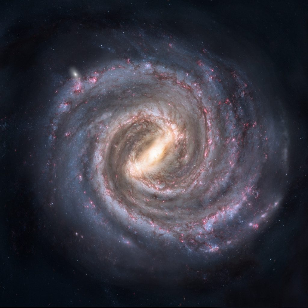 Artist conception of the Milky Way Galaxy.